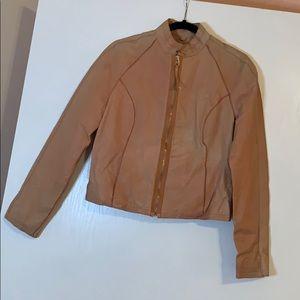 Wilson's Peach Leather ZIP Jacket